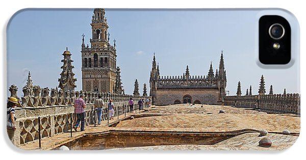Andalusia iPhone 5 Cases - Cathedral In A City, Seville Cathedral iPhone 5 Case by Panoramic Images