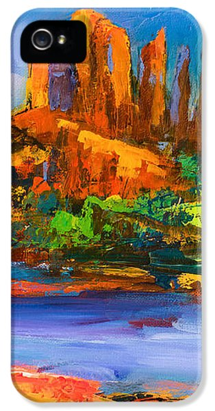 Afternoon iPhone 5 Cases - Cathedral Rock Afternoon iPhone 5 Case by Elise Palmigiani