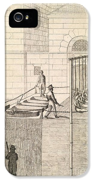 British Crime iPhone 5 Cases - Cato Street Conspiracy Executions, 1820 iPhone 5 Case by British Library