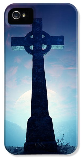 Celtic Cross With Moon IPhone 5 / 5s Case by Johan Swanepoel