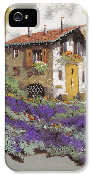 Old Houses iPhone 5 Cases - Cento Lavande iPhone 5 Case by Guido Borelli