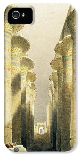 Ruins iPhone 5 Cases - Central Avenue of the Great Hall of Columns iPhone 5 Case by David Roberts