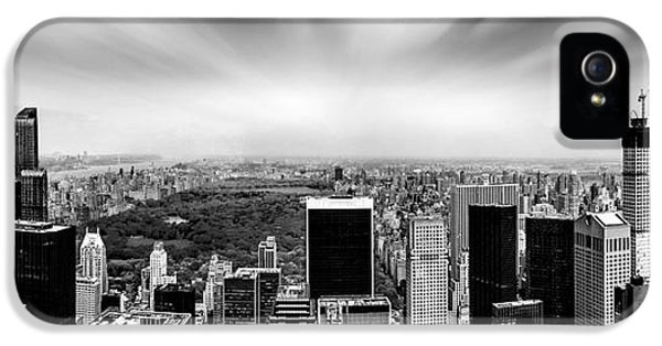 Midtown iPhone 5 Cases - Central Park Perspective iPhone 5 Case by Az Jackson