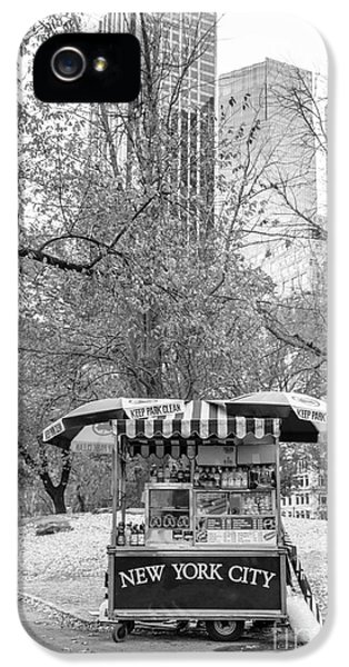 Hot Dog iPhone 5 Cases - Central Park Vendor iPhone 5 Case by Edward Fielding