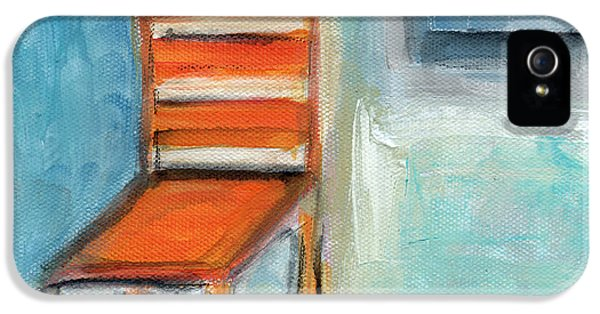 Chair iPhone 5 Cases - Chair By The Window- Painting iPhone 5 Case by Linda Woods