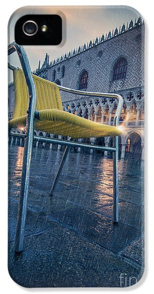 Empty Suit iPhone 5 Cases - Chair In The Rain iPhone 5 Case by Danilo Piccioni