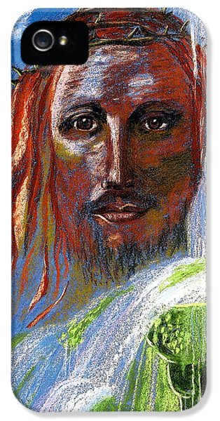 Face iPhone 5 Cases - Chalice of Life iPhone 5 Case by Jane Small