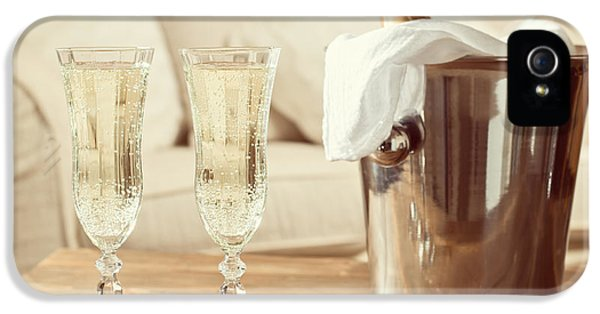 Sofa iPhone 5 Cases - Champagne Celebration iPhone 5 Case by Amanda And Christopher Elwell