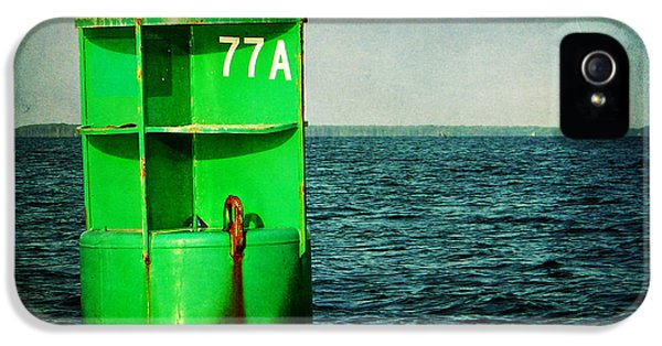 Crabbing iPhone 5 Cases - Channel Marker 77A iPhone 5 Case by Rebecca Sherman