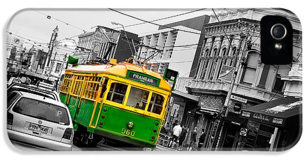 Old Tram iPhone 5 Cases - Chapel St Tram iPhone 5 Case by Az Jackson