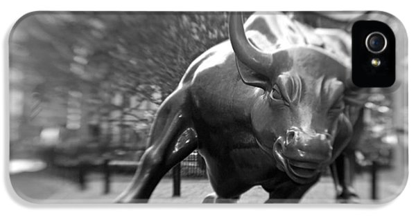 Bronze iPhone 5 Cases - Charging Bull 3 iPhone 5 Case by Tony Cordoza