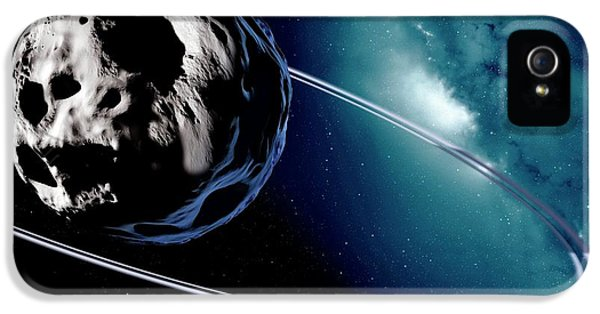 Chariklo Minor Planet And Rings IPhone 5 / 5s Case by Detlev Van Ravenswaay