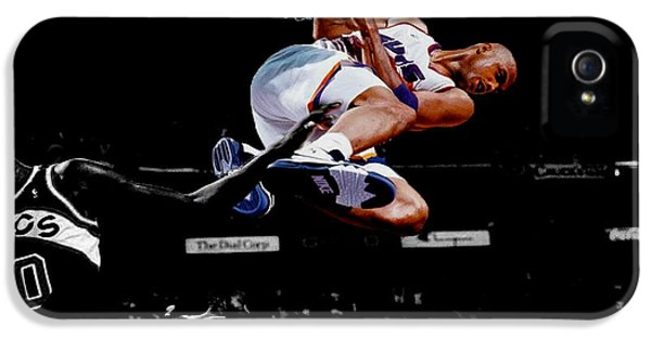 The Dream Team iPhone 5 Cases - Charles Barkley Hanging Around iPhone 5 Case by Brian Reaves