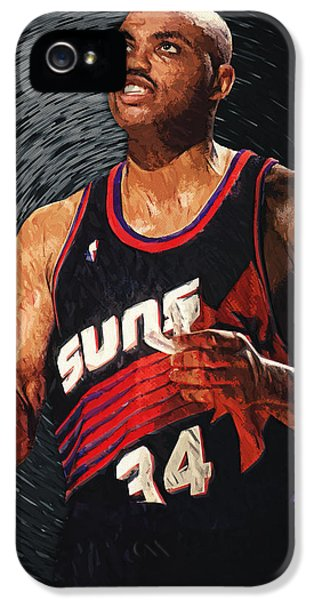 The Dream Team iPhone 5 Cases - Charles Barkley iPhone 5 Case by Taylan Soyturk