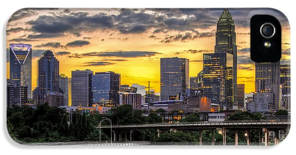 Downtown iPhone 5 Cases - Charlotte Dusk iPhone 5 Case by Chris Austin