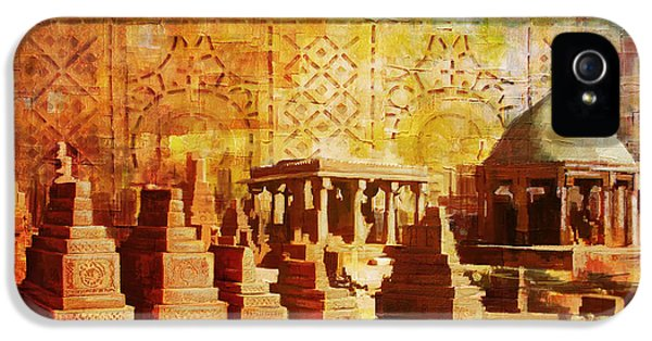 Pakistan iPhone 5 Cases - Chaukhandi tombs iPhone 5 Case by Catf