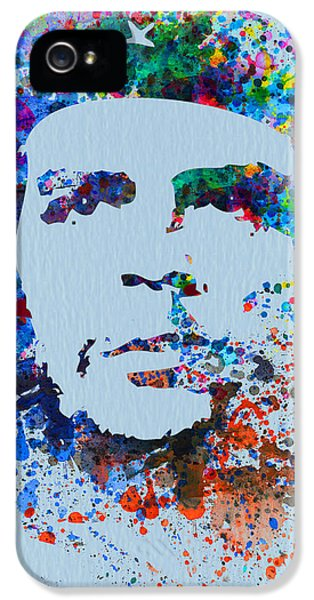 Freedoms iPhone 5 Cases - Che Guevara Watercolor iPhone 5 Case by Naxart Studio