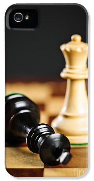 Strategy iPhone 5 Cases - Checkmate in chess iPhone 5 Case by Elena Elisseeva
