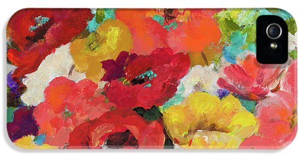 Cheerful Flowers II IPhone 5 / 5s Case by Patricia Pinto
