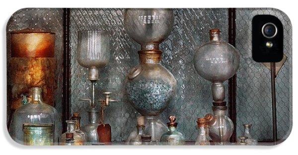 Suburbanscenes iPhone 5 Cases - Chemist - The Apparatus iPhone 5 Case by Mike Savad