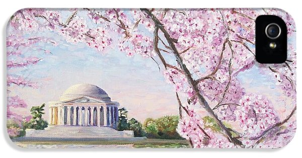 Jefferson Memorial Cherry Blossoms IPhone 5 / 5s Case by Patty Kay Hall