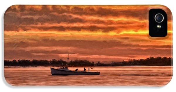 Crabbing iPhone 5 Cases - Chesapeake Watermen iPhone 5 Case by Michael Pickett