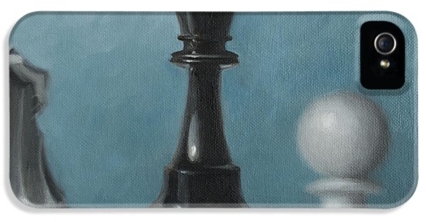Chess Board iPhone 5 Cases - Chess Pieces iPhone 5 Case by Joe Winkler