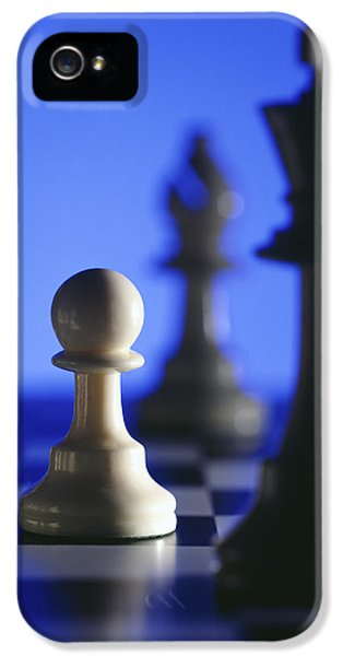 Strategy iPhone 5 Cases - Chess pieces iPhone 5 Case by Tony Cordoza