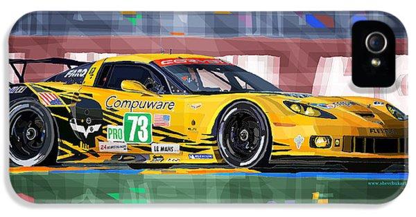 Chevrolet Corvette C6r Gte Pro Le Mans 24 2012 IPhone 5 / 5s Case by Yuriy  Shevchuk