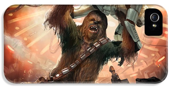 Stars iPhone 5 Cases - Chewbacca - Star Wars the Card Game iPhone 5 Case by Ryan Barger