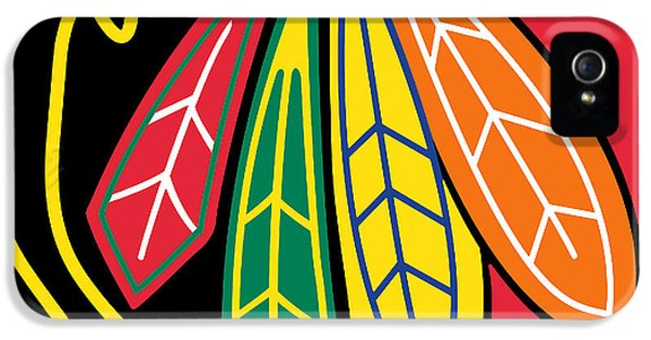 Tan iPhone 5 Cases - Chicago Blackhawks iPhone 5 Case by Tony Rubino