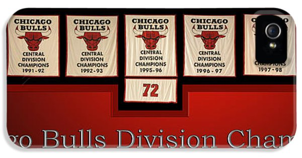 Pippen iPhone 5 Cases - Chicago Bulls Division Champions Banners iPhone 5 Case by Thomas Woolworth