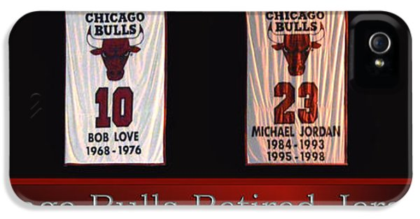 Pippen iPhone 5 Cases - Chicago Bulls Retired Jerseys Banners iPhone 5 Case by Thomas Woolworth