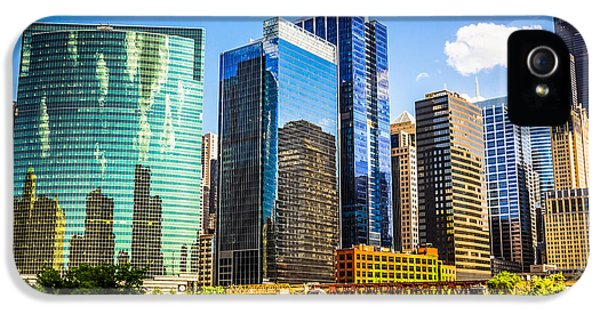 Sears iPhone 5 Cases - Chicago City Skyline iPhone 5 Case by Paul Velgos