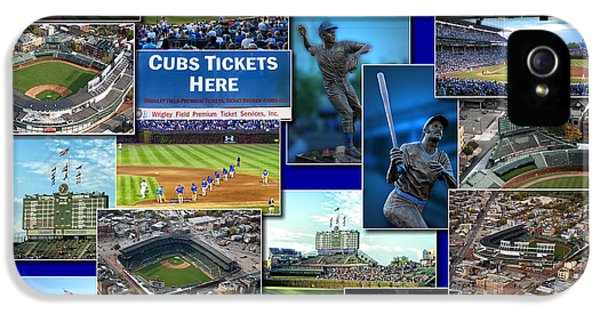 Central Division iPhone 5 Cases - Chicago Cubs Collage iPhone 5 Case by Thomas Woolworth
