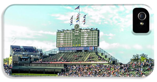 Central Division iPhone 5 Cases - Chicago Cubs Scoreboard 01 iPhone 5 Case by Thomas Woolworth