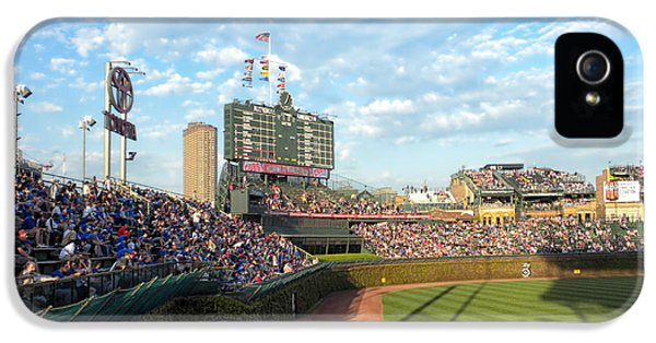Central Division iPhone 5 Cases - Chicago Cubs Scoreboard 03 iPhone 5 Case by Thomas Woolworth