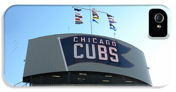 Central Division iPhone 5 Cases - Chicago Cubs Signage iPhone 5 Case by Thomas Woolworth