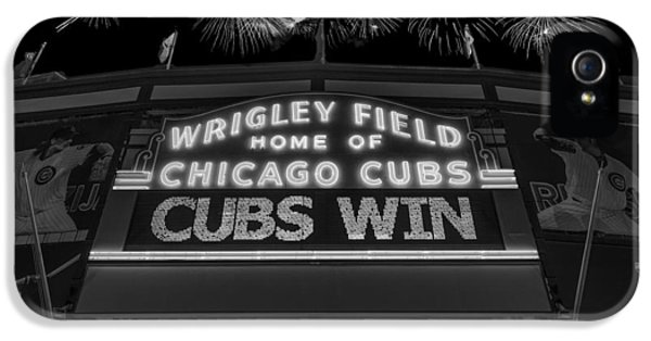 Chicago Cubs Win Fireworks Night B W IPhone 5 / 5s Case by Steve Gadomski