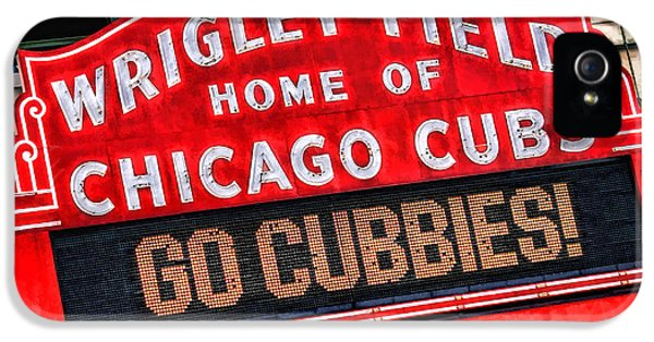 Wrigley iPhone 5 Cases - Chicago Cubs Wrigley Field iPhone 5 Case by Christopher Arndt