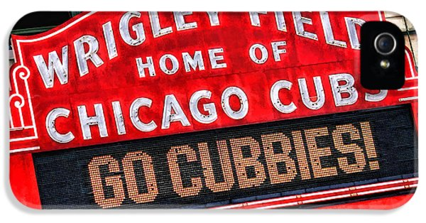 Cubs iPhone 5 Cases - Chicago Cubs Wrigley Field iPhone 5 Case by Christopher Arndt