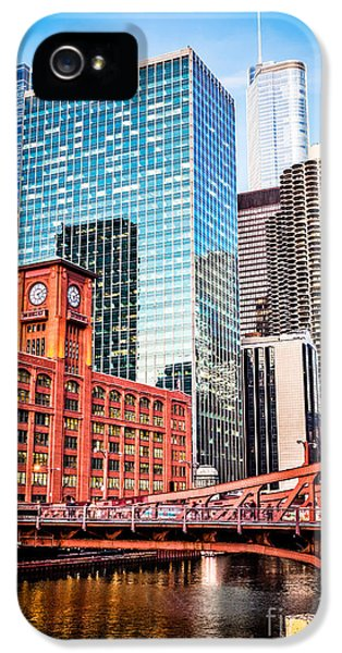 Chicago Downtown At Lasalle Street Bridge IPhone 5 / 5s Case by Paul Velgos