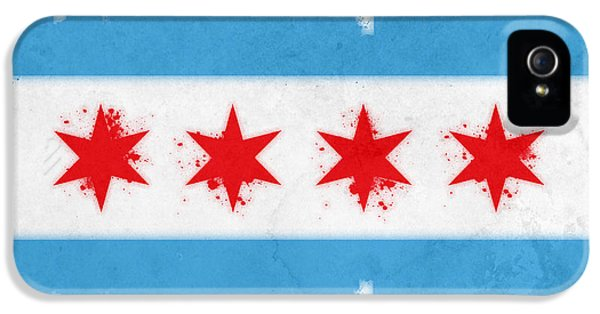 Bull iPhone 5 Cases - Chicago Flag iPhone 5 Case by Mike Maher