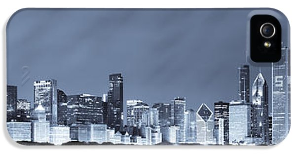 Sears Tower iPhone 5 Cases - Chicago in Blue iPhone 5 Case by Sebastian Musial