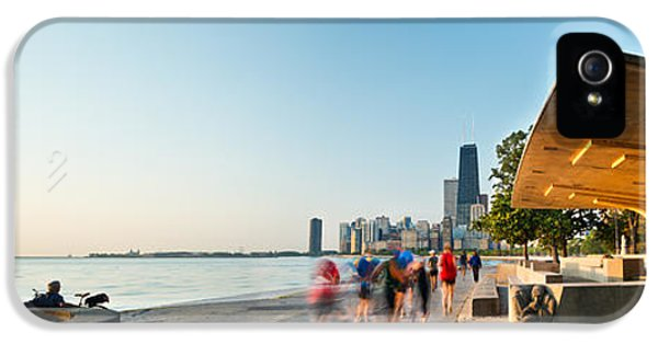 John Hancock Building iPhone 5 Cases - Chicago Lakefront Panorama iPhone 5 Case by Steve Gadomski