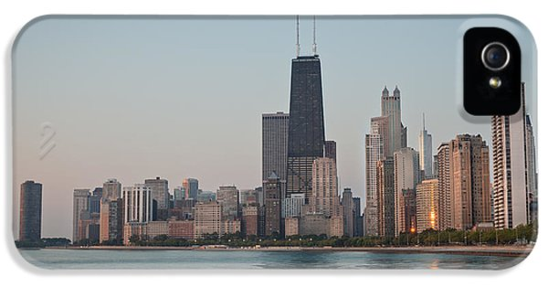 Lake Michigan iPhone 5 Cases - Chicago Morning iPhone 5 Case by Steve Gadomski
