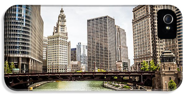 Wrigley iPhone 5 Cases - Chicago River Skyline at Wabash Avenue Bridge iPhone 5 Case by Paul Velgos