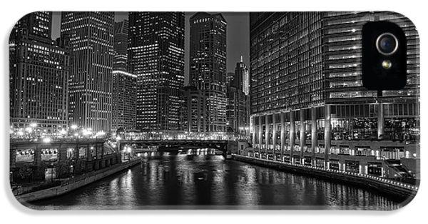 City iPhone 5 Cases - Chicago Riverwalk iPhone 5 Case by Eddie Yerkish