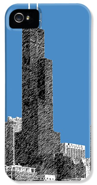 Sears iPhone 5 Cases - Chicago Sears Tower - Slate iPhone 5 Case by DB Artist