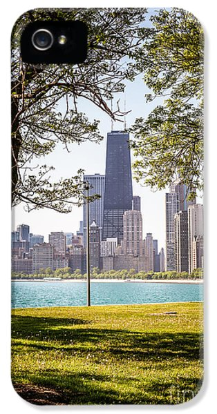 Chicago Skyline And Hancock Building Through Trees IPhone 5 / 5s Case by Paul Velgos